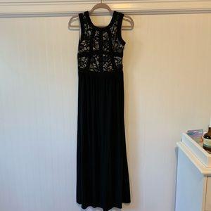 Long Black evening Dress, worn once!